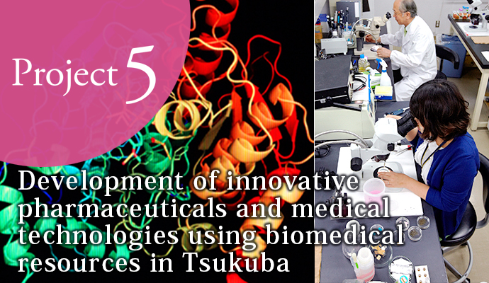 Development of innovative pharmaceuticals and medical technologies using biomedical resources in Tsukuba